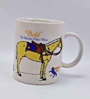 "Breyer Fest Festival Coffee Cup Mug Rare "" Bold "" The Palomino Police Horse 1997"
