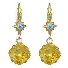 Kirks Folly STARSHINE LEVERBACK EARRINGS   goldtone / marigold