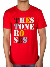 Official The Stone Roses Font Logo T-Shirt One Love Red Pearl Bastard *All Sizes