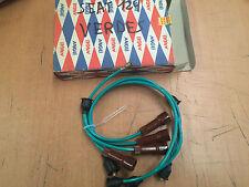 SEAT 124 JUEGO CABLES DE BUJIAS VERES spark plug wires NEW OLD STOCK