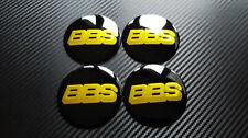 4x 80mm BBS stickers badge decal sticker for hub center caps cap rim wheel car