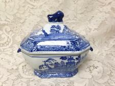 Beautiful, 2-pc Small Soup or Gravy Tureen 7.5in x 6.5in x 5in