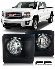 2014 2015 GMC Sierra 1500 Fog Light Bumper Lamp Clear PAIR WIRING SWITCH KIT