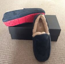 UGG Australia navy suede moccasins shoes red sole Size UK 9 EU 43 US 10 NEW