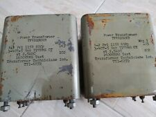 2x TRANSF. TECHNICIANS TF1RXO2KB, made in USA, trasformatori alimentazione