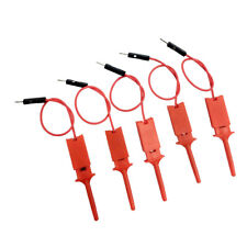 5pcs Logic Analyzer Cable Probe Test Hook Clip Line Red High Quality