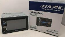 "Coche ALPINE/van CD DVD USB doble din 2DIN Estéreo Bluetooth Iphone 6.2"" caja abierta #"