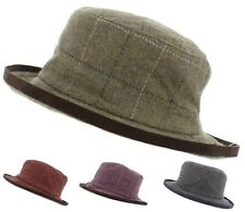 Failsworth Ladies Cloche Tweed Hat (100% Wool)