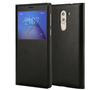 """Flip Window View Cover PU Leather Case for Huawei 5.5"""" Honor 6X"""