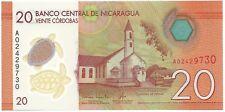 Nicaragua 20 cordobas 2014 P 210 UNC turtle church traditional dance & clothing