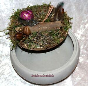 Zauberhafte Steingutschale mit handgefertigter Schnecke Dekoration Geschenk