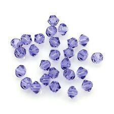 20 Perles Toupies 4mm Bicônes - CRISTAL AUTRICHIEN - 5301 Tanzanite
