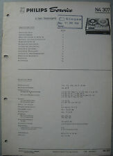 Philips n4307 magnetófono Service Manual, edición 07/68