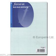 Filofax A5 Bleu Papier ligné 343001 Insert