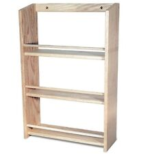 """Solid OAK Wood EXTRA DEEP Spice Rack / 20.5""""H x 13.75""""W / Wall Mountable"""