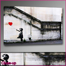 """Banksy balloon girl hope red canvas print A1 24""""x36"""""""