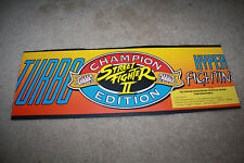 Vintage Street Fighter II Champion Edition Turbo Hyper Arcade Marquee - Flexi