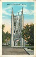 Columbia University Missouri~Memorial Tower Arch Entrance~1931 Postcard