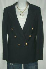 Vintage Christian Dior Jean Homme Navy Blue Blazer Gold Logo Buttons Military M