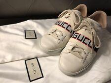 Authentic Women's Gucci Ace Logo stripe 36/ US 6.5