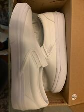 VANS Classic Tumble Slip On all White Leather vn0a38f7odj Men 4 W 5.5 TrueWhite