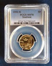 1995 W Olympics Atlanta Stadium Gold Coin PCGS MS 70