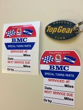 BMC SERVICE DUE Special Tuning Parts Stickers Decals 80mm  2 off