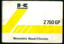Manuel d'Entretien Propriétaire KAWASAKI Z 750 R1. Z750 GP 1982 en Français GPZ