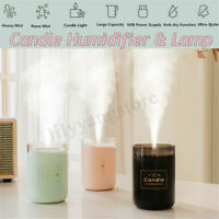 280ml Candle Ultrasonic Air Humidifier Romantic Soft Light Mist Maker Purifier