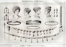 Antica Roma: Pettinature,Acconciature,Capelli,Gioielli delle Matrone Romane.1850