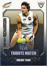 2008 Select AFL Classic HOF Tribute Match Card TM48 Matthew Richardson(Richmond)