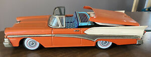 Vintage Antique Ford Fairlane 500 Skyliner Tin Remote Control Toy Car Made Japan