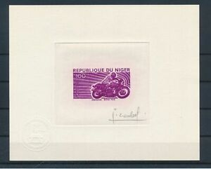 [G12064] Niger 1976 motorcycle RARE Artist proof in very fine quality