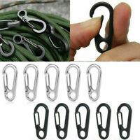 10pcs Paracord Carabiner Snap Spring Clips Hook Keyring EDC Survival Tool Set UK