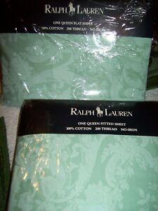 Ralph Lauren  Avery One Queen Deep Fitted Sheet & One Flat Sheet Go W Charlotte