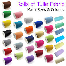 Roll of Tulle Fabric Wedding Chair Sashes Bows Party Table Runners Veil Dress UK