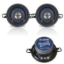 "Car Coaxial Speaker SET 2x Door Shelf Pair Peiying PY-3510C 87mm 3.2"" 60W  UK"