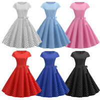 40s 50s Vintage Style Dress ROCKABILLY Housewife Tea Party Dinner Cocktail Polka