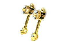"""OLD SCHOOL FORGED BRASS 5-1/2"""" FLANDERS STYLE DOGBONE RISERS 1"""" BOBBER CHOPPER-2"""