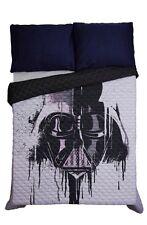 "Star Wars Disney Darth Vader Face Paint Drip Full/Queen Quilt 86""x86"" Gift NIP!"