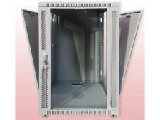 18U Wall Mount GRAY IT Network Data Server Rack Cabinet Enclosure 24