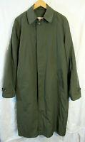 L.L. Bean Men's Hidden Button Overcoat w/ Zip Out Wool Liner Size L Tall  unworn