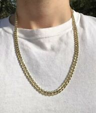 14k Yellow Gold 24 Inch Cuban Curb 8mm Chain Necklace