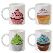 Set 4 tazze caffè e tè Cupcakes, shabby chic style, cupcake coffee tea mugs!