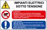 ADESIVO segnaletica IMPIANTI ELETTRICI SOTTO TENSIONE 200x300mm