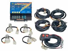 Wolo Lightning 4 Outlet Strobe Light Kit Clear, 6 Flash Patterns, 80 Watts
