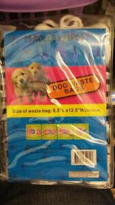 500 Poop Bag Dog Waste Pick Up Clean Bags Coreless With 2 holders~25 ROLLOS X 20