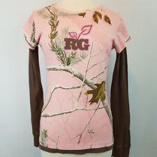 Realtree Girl Long Sleeve Shirt Pink XL Camo Deer Hunting Hiking Camping Outdoor