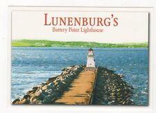 Luenenburg Battery Point Lighthouse USA Postcard 368a ^