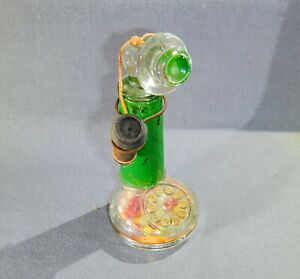 Old Glass Candlestick Phone Candy Container - Orig. Closure & Candy  Janette Pa.